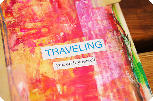 Art Journal Detail: traveling on your own