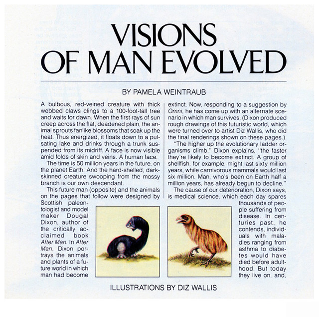 Visions Of Man Evolved - Article Page 1 - Omni Magazine November 1982