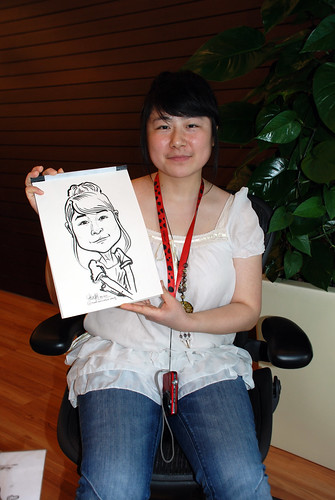 Caricature live sketching for Pan Pacific Hotels Group Family Day -7