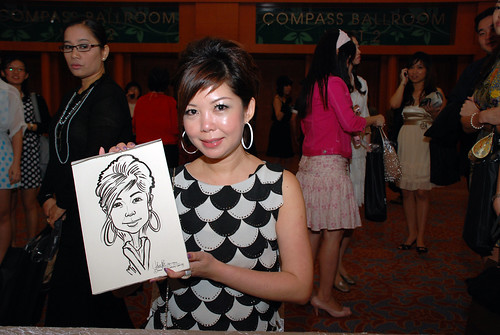 caricature live sketching for Ernst & Young D&D 2010 - 7