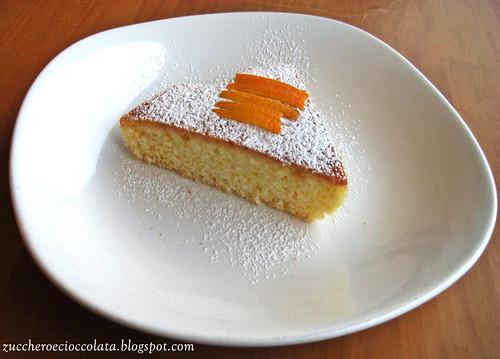 torta agli albumi al profumo d'arancia