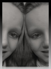 Two times the joy (Gdnght1) Tags: two white black childhood youth hospital riley mirror faces joy cancer images tumor childrens survival wilms remission sherrylee wilmstumor pubery cancerrebellion drcroop