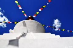 Sky and Stupa (pam's pics-) Tags: newmexico stupa prayer religion buddhism holy study nm dharma mediation pammorris labordayroadtrip questanewmexico nikond5000 denverpam hermanrednick kagyumilagurustupa