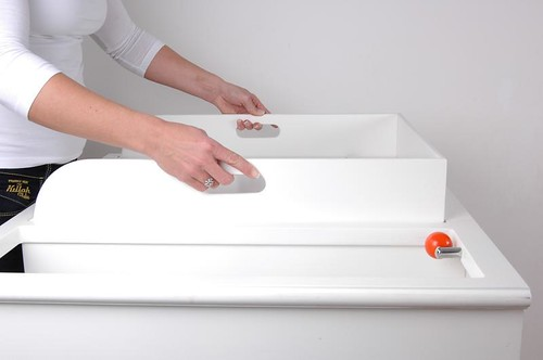 Juka 9 mueble cambiador para beb con bordes de seguridad - Cambiadores plegables para bebes ...