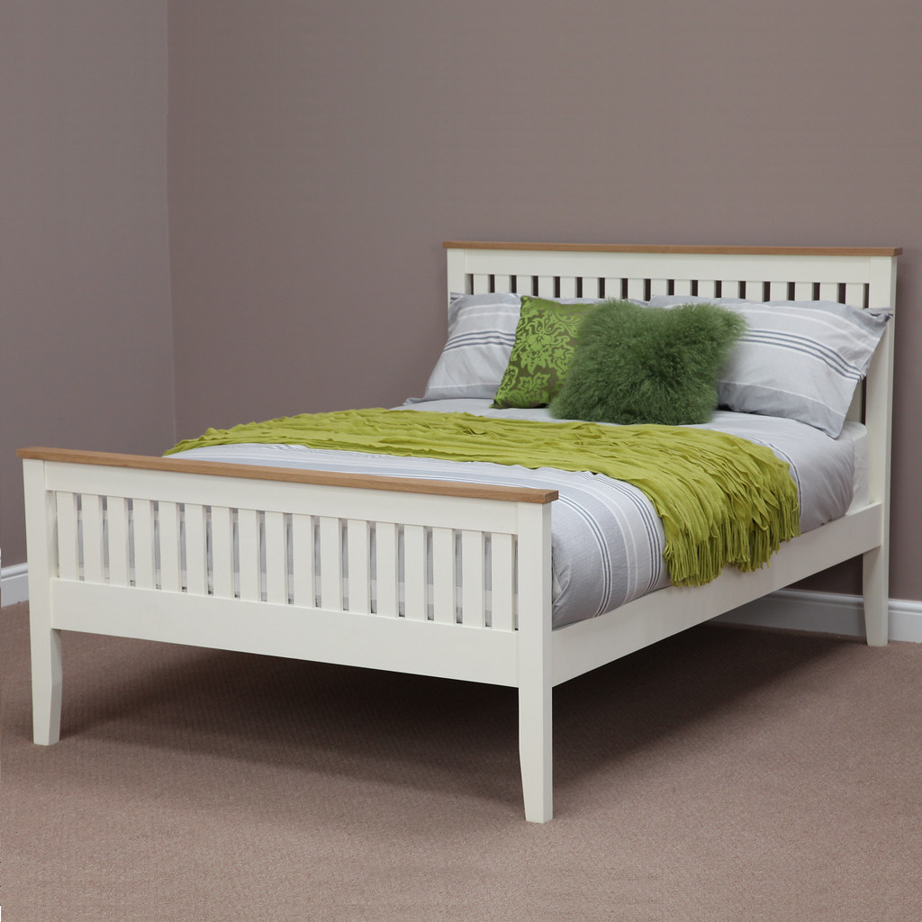 Tokyo Cream Painted King Size Bed (Oak Furniture Land) Tags: Tokyo Bed