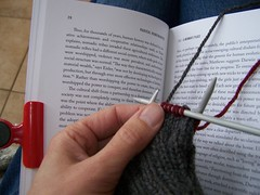 Reading while knitting