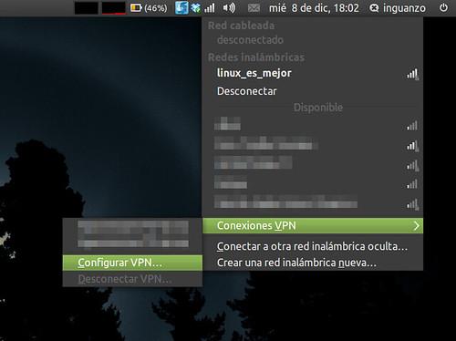 Administrador de redes - Conexiones VPN