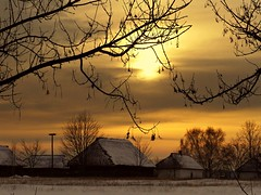 peaceful... (JoannaRB2009) Tags: trees houses winter sunset sky sun white snow nature clouds buildings countryside colours village poland polska natura skansen openairmuseum zima nieg lodz soce d kolory chmury niebo zachdsoca drzewa budynki domy lowicz wie wioska owicz maurzyce centralpoland bestcapturesaoi tripleniceshot elitegalleryaoi