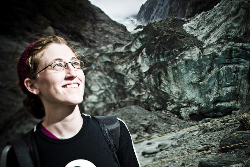Toni Maisano on Franz Josef Glacier