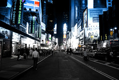 New York Obsessed (nat.osmo) Tags: new york city people night america dark square lights nikon colours billboards times kit nightlife population lense d3000
