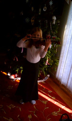 Kate playing violin