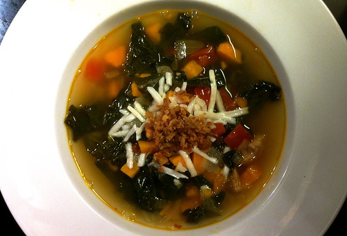 Local Kale, Sweet Potato, and Sausage Soup