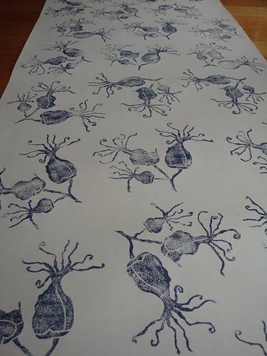 hand printed wallpaper. hand printed wallpaper