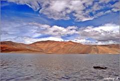 Pangong Tso (Lake), LADAKH, INCREDIBLE INDIA! (Sandeep SK) Tags: china travel india lake water colors landscape nikon kashmir leh jk ladakh jammu 2010 pangong otw 3idiots incredibleindia d3000 endorheic sandeepsk