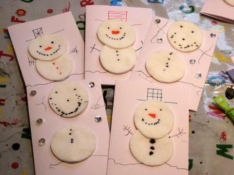 make a snowman Christmas card
