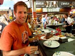 Lunchtime Steak and Wine - Montevideo, Uruguay (uncorneredmarket) Tags: food uruguay meat steak montevideo redwine dpn grilledmeat mercadodelpuerto portmarket ciudadviejamontevideo