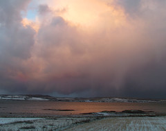 It's snowing in Bruichladdich (glenfinlas) Tags: winter snow scotland islay frommywindow bruichladdich
