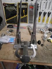 Schwinn Truing Stand (Spoke 'n Cog) Tags: park bike schwinn tool truingstand