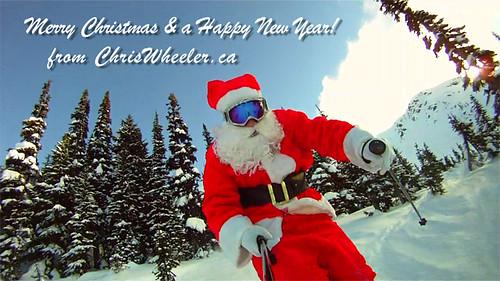 Santa Claus Skis Whistler, BC