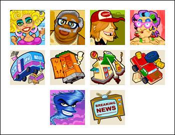 free Twister slot game symbols