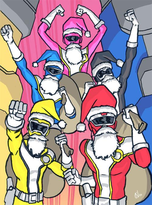 20 - Mighty Morphin Santa Rangers