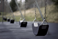 Reminisce. (Daniel.Lam) Tags: seattle school blur field playground vintage out lens photography 50mm prime washington blurry nikon focus dof bokeh daniel swings blurred swing 18 depth lam oof d80 daniellam of daniellamphotography
