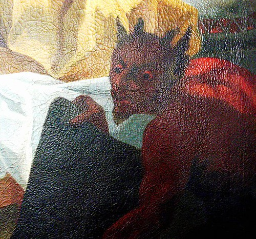 Detail of painting in a German church