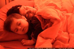 sleeping beauties - mother and son asleep in bed - MG 5315.JPG