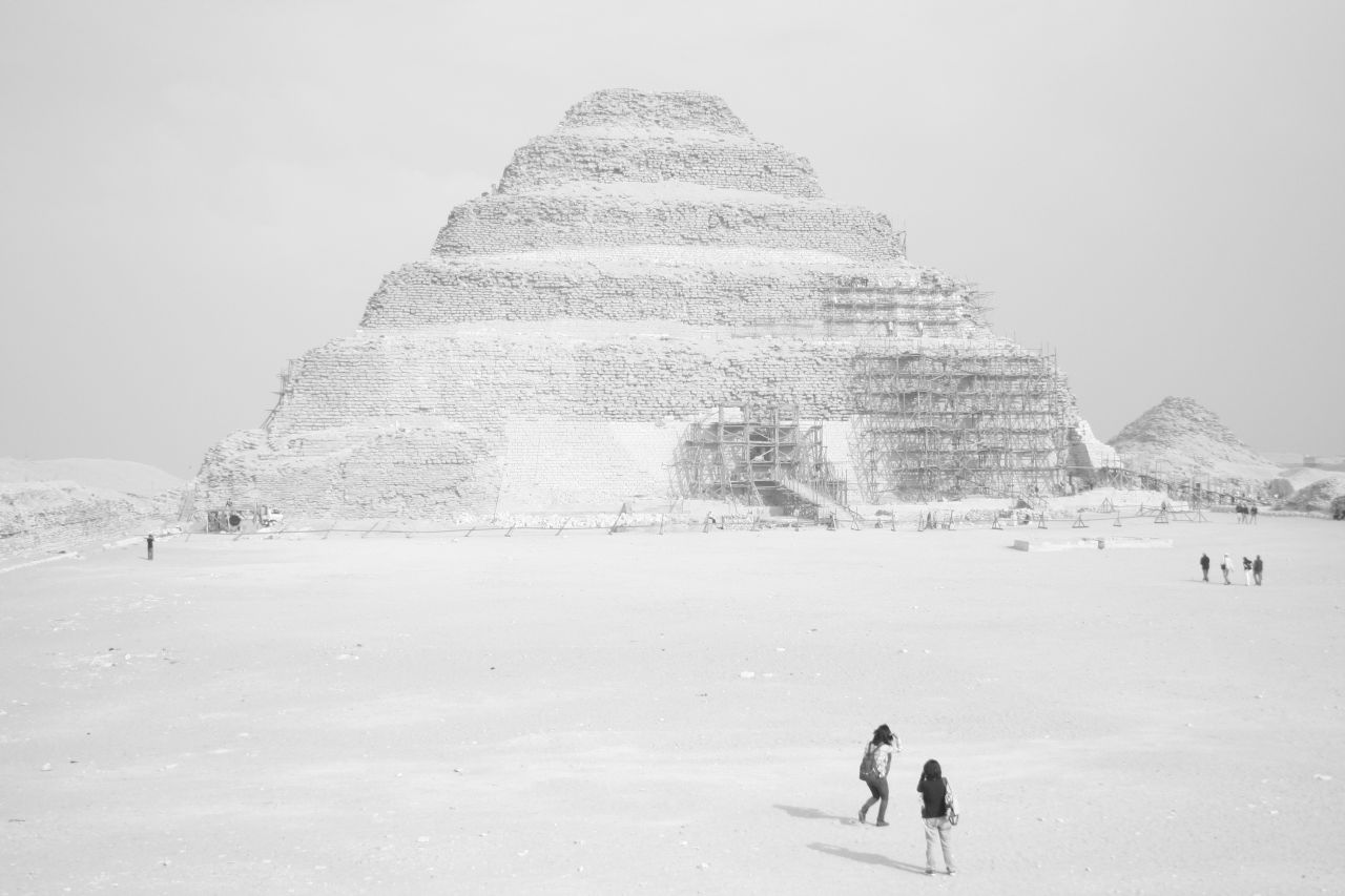 step pyramid over exposed