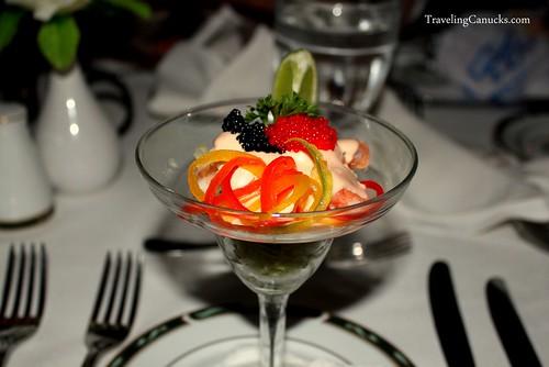 Prawn and Lobster Cocktail at the Bavaro Princess Resort