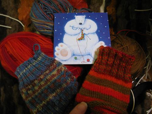 Festive knitting