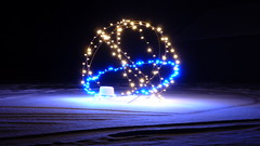 Circle Of Light... (Minkn) Tags: blue light cloud snow color ice beautiful yellow norway night clouds circle lights norge nice colours great panasonic norwegian stunning icy sn bl of tz7 minkn