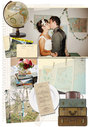 vintage travel deco It 39s not surprising a vintage stlyed wedding is so