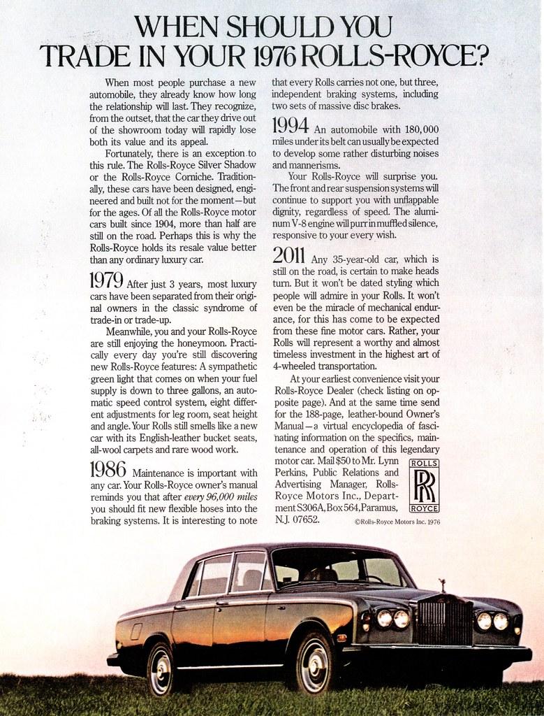 1976 Rolls Royce Silver Shadow (USA)