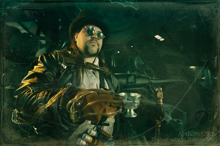 Steampunk fashion shoot with concept artist and author Joshua Hart