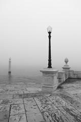 three kinds (filipe mota rebelo   400.000 views! thank you) Tags: city bw portugal water lamp misty fog canon lisboa lisbon ambience terreirodopaço 2011 5dmarkii