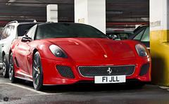 Ferrari 599 GTO (David J. Anderson) Tags: auto camera red slr london car digital canon lens eos is awesome ferrari exotic 17 gto usm carbon dslr carpark 85 rare fibre cadogan 599 40d
