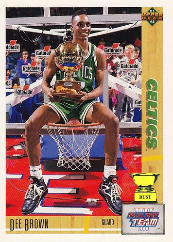 Baseball Card Bust Dee Brown 1991 92 Upper Deck All Rookie