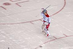 Varlamov Changes Ends (clydeorama) Tags: usa ice hockey wet rain outdoors nhl penguins dc washington football pittsburgh stadium caps icehockey pa nightime heinz skates heinzfield capitals varlamov winterclassic nationalhockeyleague outdoorhockey