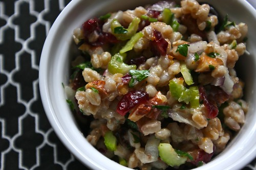 farro salad with cranberries