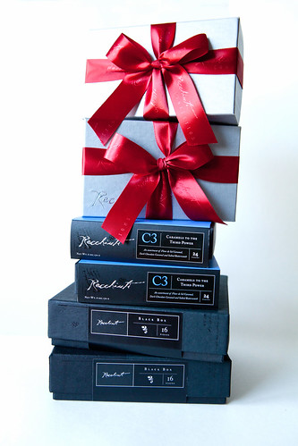 Stack of Recchiuti Chocolates