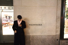 Faonnable (Nick Mulcock) Tags: new york city nyc newyork black fashion scarf canon thought phone 5 coat sigma style ave pensive avenue 5th 5thave fashionable 60d faonnable