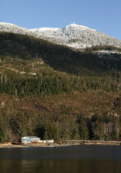 beachfront home and Kasaan Mountain, Kasaan, Alaska
