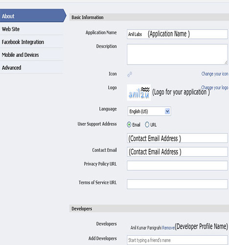 Simple steps to create facebook application | Anil Labs