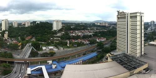 View from Boulevard Hotel, overlooking Mid Valley KTM