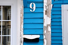 9.1:365 (Joanne Dale) Tags: door blue white canada window architecture mailbox newfoundland doors nine stjohns trim number9 jellybeanhouse 9365 365project nikond90 joannedale