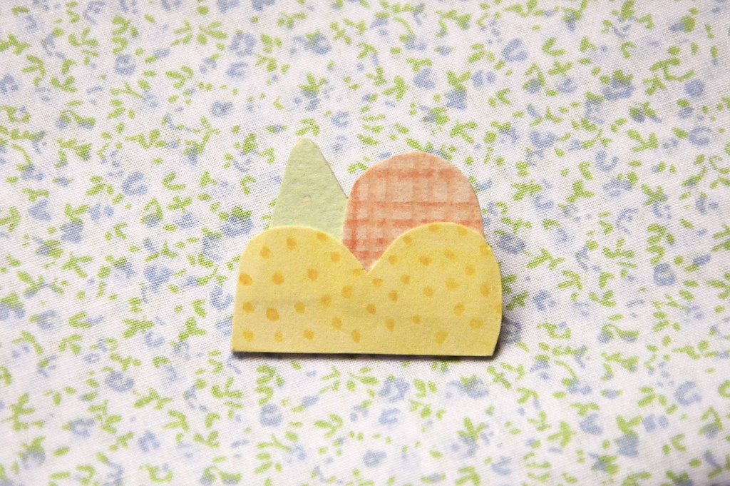 Paper Mountain Brooch