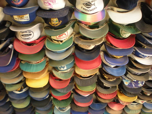 Hats at Toad River Lodge