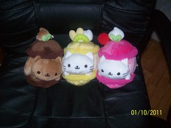 10th Anniversary San-x Nyan Nyanko Fruit Plushes ( Veronica ) Tags: pink brown japan fruit cat cream plush sanx nyannyanko