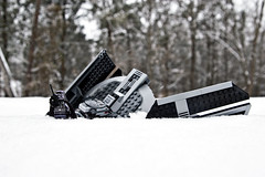 Day 168 (a Dan of action) Tags: winter snow lego pentax crash darth 365 vader minifig aaa tiefighter k100dsuper 365toyproject